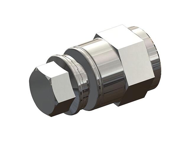 Croozer Achsmutteradapter M10x1 silber
